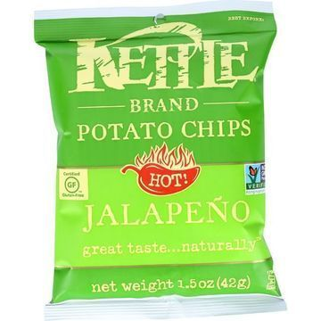 Kettle Brand Potato Chips - Jalapeno - Hot - 1.5 oz - case of 24