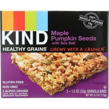 Kind Bar - Granola - Healthy Grains - Maple Pumpkin Seeds with Sea Salt - 5/1.2 oz - case of 8