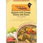 Kitchen Of India Dinner - Spinach with Cottage Cheese and Sauce - Palak Paneer - 10 oz - case of 6