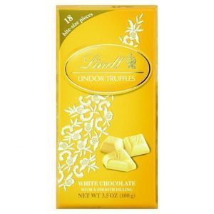 Lindt Chocolate Bites - Truffles - White Chocolate - 3.5 oz Bars - Case of 12