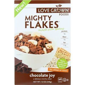Love Grown Foods Cereal - Mighty Flakes - Chocolate Joy - 12 oz - case of 6