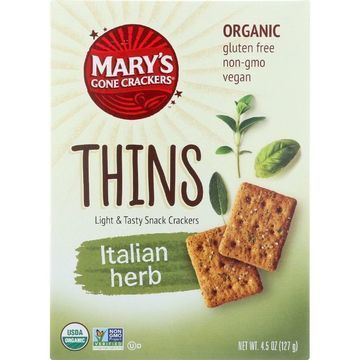 Marys Gone Crackers Crackers - Organic - Thins - 4.5 oz - case of 6