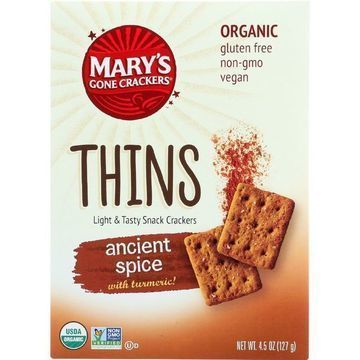 Marys Gone Crackers Crackers - Organic - Thins - Ancient Spice - 4.5 oz - case of 6