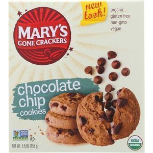Marys Gone Crackers Cookies - Organic - Chocolate Chip - Gluten Free - 5.5 oz - case of 6