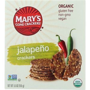 Marys Gone Crackers Crackers - Organic - Hot n Spicy Jalapeno - 5.5 oz - case of 12