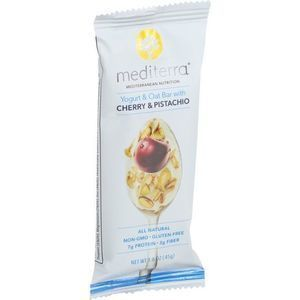 Mediterra Nutrition Yogurt and Oat Nutrition Bars - Cherry and Pistachio - 1.6 oz Bars - Case of 12