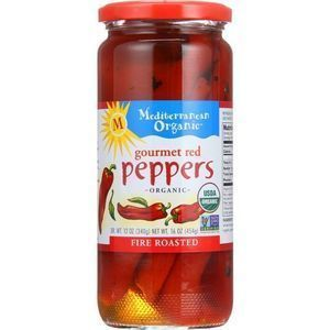Mediterranean Organic Peppers - Organic - Fire Roasted - Gourmet Red - 16 oz - case of 12