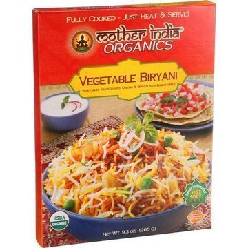 Mother India Organic Vegetable Biryani - 9.3 oz - Case of 6