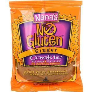 Nanas Cookie Cookie - Ginger - Gluten Free - 3.5 oz - case of 12
