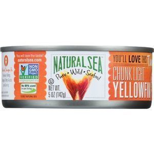 Natural Sea Wild Yellowfin Tuna - Unsalted - Case of 12 - 5 oz.
