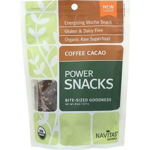 Navitas Naturals Snacks - Organic - Power - Coffee Cacao - 8 oz - case of 12
