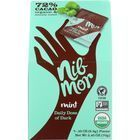 Nibmor Candy - Organic - Daily Dose of Dark - Dark Chocolate - 72 Percent Cacao - Mint - 7/.35 oz - case of 6