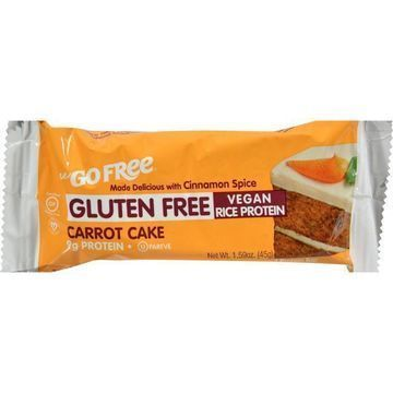 Nugo Nutrition Bar - Gluten Free Carrot Cake - Case of 12 - 45 Grams