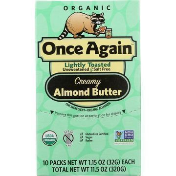 Once Again Almond Butter - Organic - Lightly Toasted - Squeeze Pack - 1.15 oz - case of 10