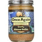 Once Again Almond Butter - Natural - Crunchy - Salt Free - 16 oz - case of 12