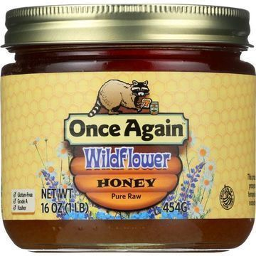 Once Again Honey - Natural - Wildflower - 1 lb - case of 12
