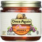 Once Again Honey - Natural - Clover - 1 lb - case of 12