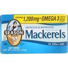 Season Brand Mackerels - Fillets - in Olive Oil - 4.375 oz - case of 12
