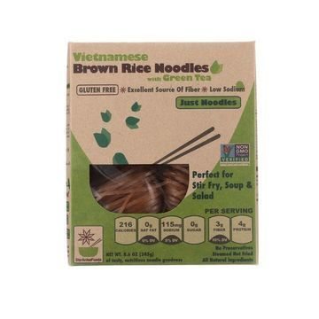 Star Anise Foods Noodles - Brown Rice - Vietnamese - with Organic Green Tea - 8.6 oz - case of 6