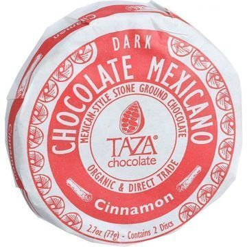 Taza Chocolate Organic Chocolate Mexicano Discs - 50 Percent Dark Chocolate - Cinnamon - 2.7 oz - Case of 12