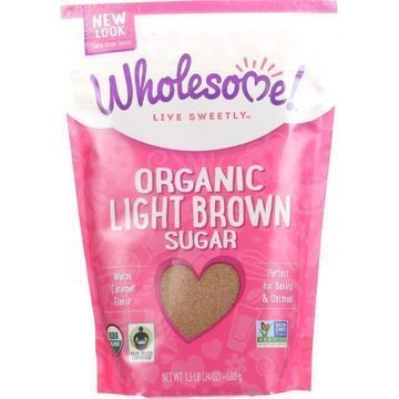 Wholesome Sweeteners Sugar - Organic - Light Brown - 24 oz - case of 6