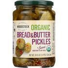 Woodstock Organic Pickles - Sweet Bread & Butter - Sliced - Case of 6 - 24 oz.