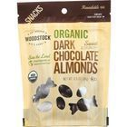 Woodstock Organic Dark Chocolate Almonds - Case of 8 - 6.5 oz.