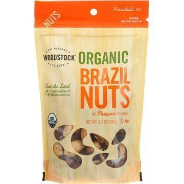 Woodstock Organic Brazil Nuts - Case of 8 - 8.5 oz.