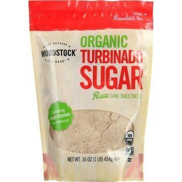Woodstock Sugar - Organic - Turbinado - 16 oz - case of 12