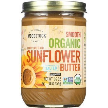 Woodstock Organic Sunflower Seed Butter - Lightly Sweetened - Case of 12 - 16oz.