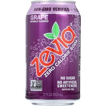 Zevia Soda - Zero Calorie - Grape - Can - 6/12 oz - case of 4