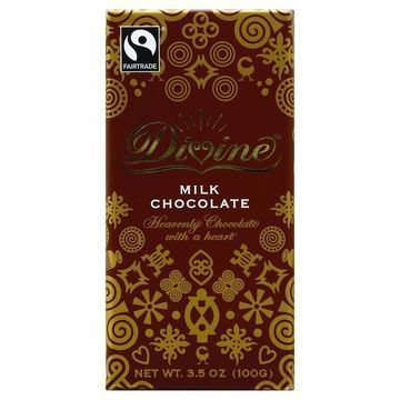 Divine Chocolate Bar - Milk Chocolate - 3.5 oz Bars - Case of 10
