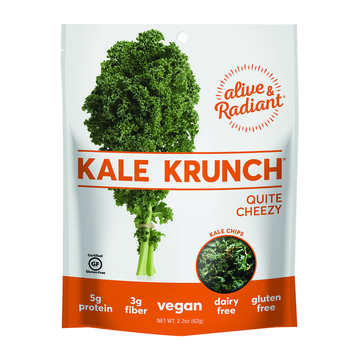 Alive and Radiant Kale Krunch - Quite Cheezy - Case of 12 - 2.2 oz.