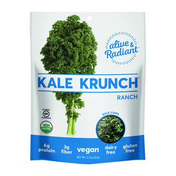Alive and Radiant Kale Krunch - Ranch - Case of 12 - 2.2 oz.
