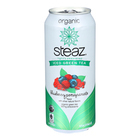 Steaz Lightly Sweetened Green Tea - Blueberry Pomegranate - Case of 12 - 16 Fl oz.