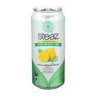 Steaz Unsweetened Green Tea - Lemon - Case of 12 - 16 Fl oz.
