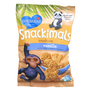Barbara's Bakery Snackimals Cookies - Vanilla - Case of 18 - 2.125 oz.