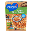 Barbara's Bakery - Brown Rice Crisps - Fruit Juice Sweetened Cereal - Case of 6 - 10 oz.