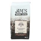 Jim's Organic Coffee - Whole Bean - Italian Roast - Case of 6 - 11 oz.