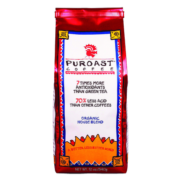 Puroast Low Acid Ground Coffee - House Blend - Case of 6 - 12 oz.