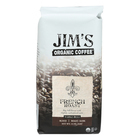 Jim's Organic Coffee - Whole Bean - French Roast - Case of 6 - 11 oz.