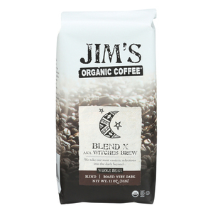 Jim's Organic Coffee - Whole Bean - Sweet Love Blend - Case of 6 - 11 oz.