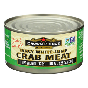 Crown Prince Crab Meat - Fancy White Lump - Case of 12 - 6 oz.