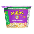 Annie's Homegrown White Cheddar Microwavable Macaroni and Cheese Cup - Case of 12 - 2.01 oz.