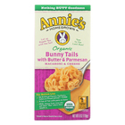 Annie's Homegrown Organic Bunny Tails with Butter and Parmesan Macaroni and Cheese - Case of 12 - 6 oz.