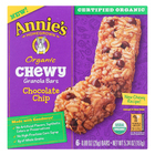 Annie's Homegrown Organic Chewy Granola Bars Chocolate Chip - Case of 12 - 5.34 oz.