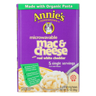 Annie's Homegrown Microwavable Mac and Cheese with Real White Cheddar - Case of 6 - 10.7 oz.