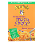 Annie's Homegrown Microwavable Mac and Cheese with Real Aged Cheddar - Case of 6 - 10.7 oz.