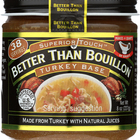 Better Than Bouillon Seasoning - Turkey Base - Case of 6 - 8 oz.