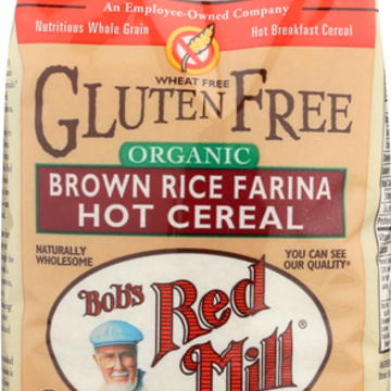 Bob's Red Mill - Organic Brown Rice Farina Creamy Rice Hot Cereal - 26 oz - Case of 4